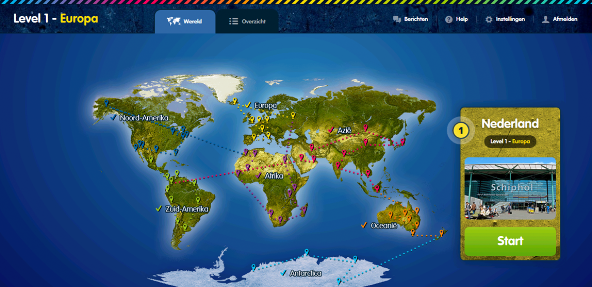 Carousel wereldkaart